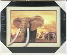 3D Effect Elephants Picture Wall Kids Room Decor Art Printing Frame