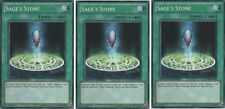 Sage's Stone LOT OF  3 X  Common GLD4-EN038 Limited Edition  Mint/NM Yugioh