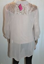 together Designer Cappucino Dipped Hem Blouse Top Size 42 BNWT #Ti64
