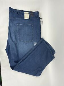 NWT Nautica Mens Jeans 58x30 Dark Stone Wash Relaxed Fit Straight Leg Stretch