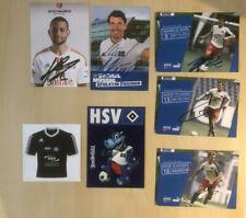 Hamburger SV HSV Autogrammkarten Sammlung Fussball Signiert + Aufkleber