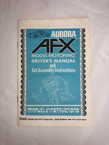 Vintage Aurora AFX Drivers Manual