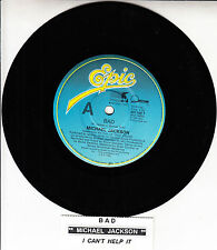 "MICHAEL JACKSON  Bad 7"" 45 rpm vinyl record + juke box title strip"