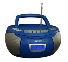Kassettenrecorder blau CD Player Boombox Sleeptimer,Equalizer Denver TCP39