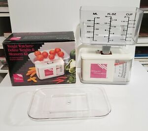 Weight Watchers Deluxe Weights & Measures Kit Food & Liquid Scale VTG