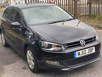 2012 Black Volkswagen Polo, 5 Doors, Manual with Low Mileage