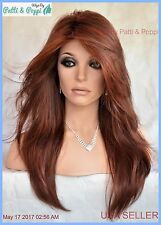 Long Designer Wig Sheer Plum Soft Flowing Waves ✮Classic Sexy Long USA Sell 2013