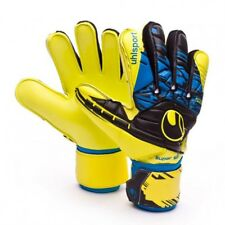 Uhlsport Speed Up Supersoft Soccer Goalkeeper GK Gloves Mens 10 Yellow new
