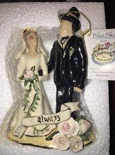 Nos Nib Blue Sky Clayworks - Ceramic Bride and Groom Tw50861