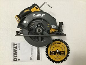 "New Dewalt DCS578B Flexvolt 60 Volt Max 7-1/4"" Brushless Circular Saw W/ Blade"