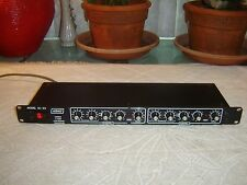 Ashly SC-22, Blackface Version, Stereo 2-Way Electronic Crossover, Vintage Rack