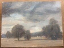 Signed Lillian Mingay Original Oil Painting Yorkshire parkland Landscape 15x11
