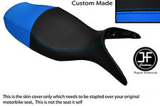 BLACK & LIGHT BLUE VINYL CUSTOM FITS BMW R 1100 S 98-05 DUAL SEAT COVER ONLY