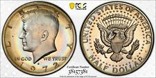 1972-S KENNEDY HALF DOLLAR PCGS PR66 PROOF COLOR BU GEM STUNNING TONED UNC (DR)