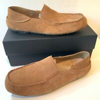 Men's UGG Slippers UK Size 9 Chestnut Upshaw Suede Loafers