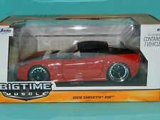 Jada 1/24 Big Time Muscle 2006 Chevrolet Corvette Z06 Black/Red MiB