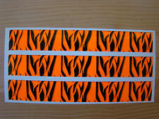 Carbon Arrow Wraps 13 Pack 7 Inch Flo Orange Super Tiger Stripe Bowhunting