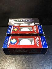 Titleist Dt So/Lo Golf Balls 2 Packs Plus 1 Spaulding Pro Flite Monogrammed Cgi
