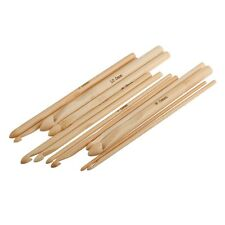 12 Stück 3,0 - 10 mm Set Häkelnadel Stricknadeln Häkeln Bambus Nadel