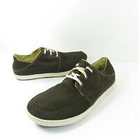 OluKai Nohea Moku Mens 9.5 M Brown/taupe Mesh Lace Slip On Casual Walking Shoes