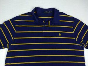 Ralph Lauren POLO Men's Purple & Yellow Striped Short Sleeve Polo Shirt 2XB