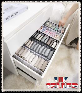 UK Foldable Underwear Storage Box Compartment Underpants Bra Organizer Drawer