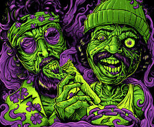 """3"""" Funny Zombie Cheech and Chong STICKER. Marijuana. Good for your bong or pipe."""