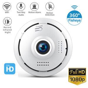 Wifi Panoramic 360 Degree Fisheye Indoor Camera 1080P Home Security CCTV Cam New