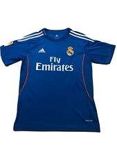 Real Madrid Adidas 2013-14 Away Blue Soccer Bale #11 Jersey Men's Size Small