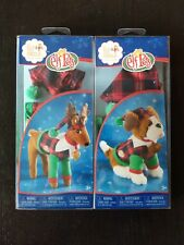 2 Elf On the Shelf Elf Pets Clothes. Raindeer and Playful Puppy PJ'S. brand new
