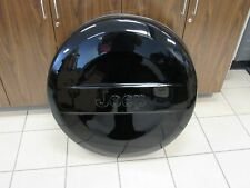 JEEP WRANGLER Gloss Black Molded Spare Tire Cover NEW OEM MOPAR