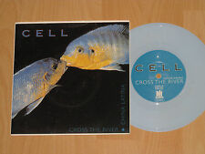 "7"" CELL - CROSS THE RIVER - NEW YORK GRUNGE BAND - BLUE VINYL - MINT"