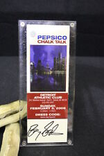 2006 Super Bowl XL BARRY SANDERS Autograph, Detroit Athletic Club