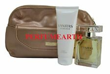 VANITAS BY VERSACE 3 PCS SET WITH 3.4 oz. EDT SPRAY FOR WOMEN NEW IN BOX
