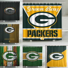 Green Bay Packers Design Fabric Waterproof Shower Curtain Bathroom Accessory Set
