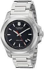 Victorinox Swiss Army I.N.O.X. Black Dial SS Quartz Mens Watch 241723.1