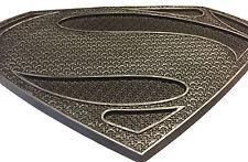 Man of Steel Superman Chest Logo Emblem Symbol  In Black Silver