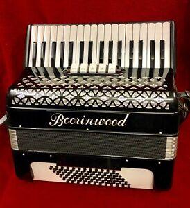 Boorinwood Italian Professional Tremolo 34 key 72 bass Piano Accordion used