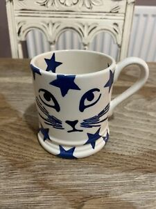 Emma Bridgwater 1/2 Pint Mug Blue Cat Star Starry
