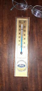 Piccolo TERMOMETRO da PARETE FORD Centigradi + Fahrenheit - WALL THERMOMETER
