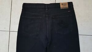 "Vintage Westco Men's Oz Bull Denim Jeans Black Size W38"" Strong Zip."