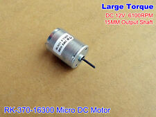 DC12V 6100RPM Large Torque Small Micro 370 Carbon Brush Motor 15MM Output Shaft