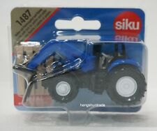 Siku Super 1487 Holland Tractor with Pallet Fork for Pallets Vehicle Model