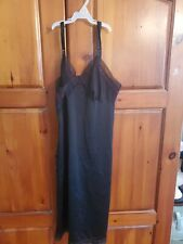 Vintage Lorraine Perfect Fitting Slip 38 Black Pre-owned