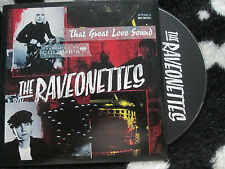 Raveonettes, The ‎–That Great Love Sound Columbia release date sticker CD Single