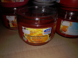 Mainstays candle Made in the USA Cranberry Mandarin 3 wick candle Tulip