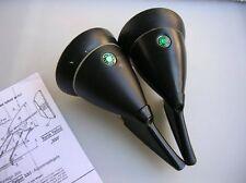 BLACK TALBOT MIRROR 333 GREEN BERLIN DOTS VINTAGE CAR AUTO SPIEGEL MIRRORS