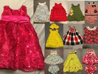 Baby Girl Dress Top Tulle Skirt Short lot Gymboree Rare Editions Old Navy 2T 24