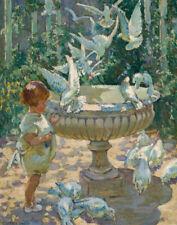 Dorothea Sharp At The Fountain Canvas Print 16 x 20    # 5713