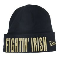 NEW ERA NOTRE DAME FIGHTING IRISH SPELL OUT YOUTH NAVY BLUE BEANIE CAP HAT